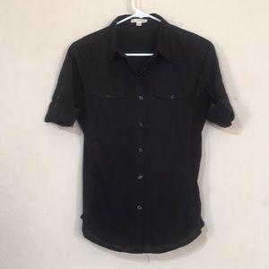 Zenana outfitters black button down shirt